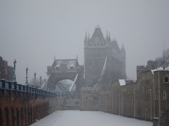 London Tower Snow
